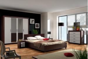 Meble Sypialnia PEDRO - 2 kolory podstawowe oraz 24 kolory frontów na zamówienie