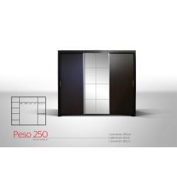 Peso - Szafa przesuwna 250 x 216