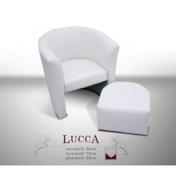 LUCCA A I z pufą Fotel