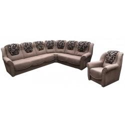 BARTOSZ Zestaw - Narożnik 320 x 230 + fotel