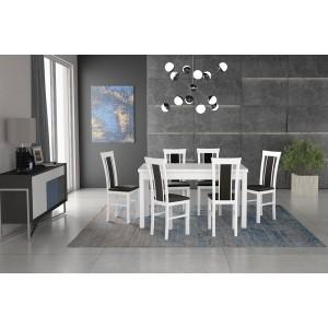 Zestaw 1 - Stół MODENA II laminat, krzesła MILANO VIII