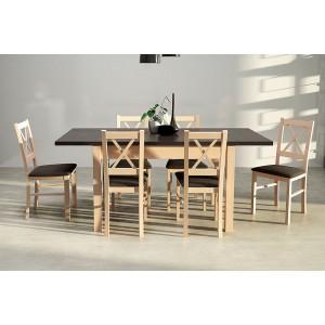 Zestaw 38 - Stół MODENA I laminat, krzesła NILO II