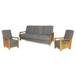 LUIZA - Zestaw - Kanapa + 2 fotele