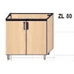 """KUCHNIA DIANA MDF POŁYSK -  szafka kuchenna zlewozmywakowa  """"80"""" ZL80"""
