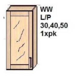 KUCHNIA DIANA MDF MAT - szafka  kuchenna górna WW 50 L/P