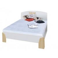 NOTTE - Łóżko 160 z materacem bez stolików
