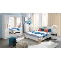 NOTTE - Sypialnia z materacem  (N20+ N1 ze stolikami)