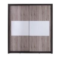 GIBAR - Szafa przesuwna 180 x 200  2D (lustro poziome)