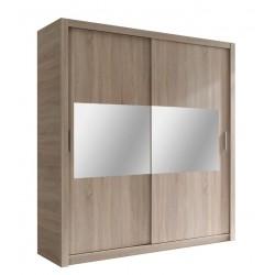 GIBER - Szafa przesuwna 180 x 200 2D (lustro poziome)