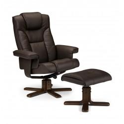 BORNEO - fotel wypoczynkowy brązowy