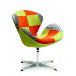 RAINBOW - fotel wypoczynkowy zielono-pomarańczowy