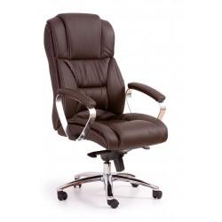 FOSTER-  fotel obrotowy gabinetowy ciemny brąz