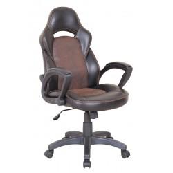 LIZARD - fotel obrotowy gabinetowy czarno-brązowy