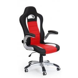 LOTUS- fotel obrotowy gabinetowy czarno-czerwony