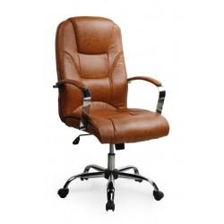 NELSON-  fotel obrotowy gabinetowy jasny brąz