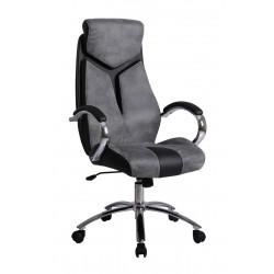 NIXON - fotel obrotowy gabinetowy popielato-czarny