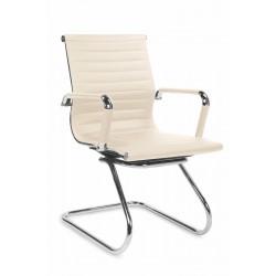 PRESTIGE SKID- fotel obrotowy gabinetowy kremowy