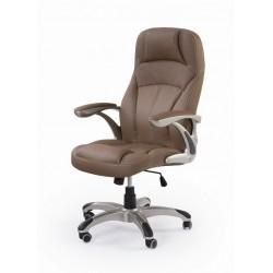 CARLOS- fotel obrotowy gabinetowy jasny brąz