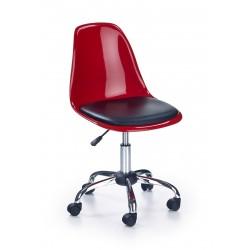 COCO 2 - fotel młodzieżowy obrotowy czerwono-czarny
