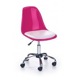COCO 2 - fotel młodzieżowy obrotowy biało-różowy