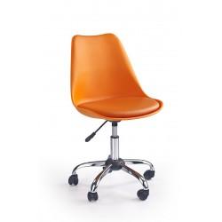 COCO - fotel młodzieżowy obrotowy pomarańczowy