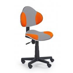 FLASH 2 - fotel młodzieżowy obrotowy popielato - pomarańczowy