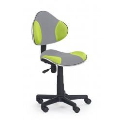 FLASH 2 - fotel młodzieżowy obrotowy popielato - zielony