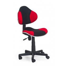 FLASH  - fotel młodzieżowy obrotowy czarno - czerwony