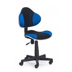 FLASH  - fotel młodzieżowy obrotowy czarno - niebieski