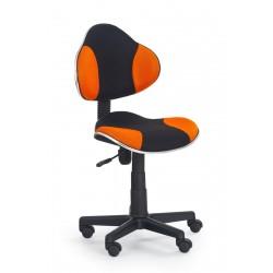 FLASH  - fotel młodzieżowy obrotowy czarno - pomarańczowy