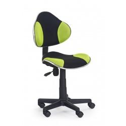 FLASH  - fotel młodzieżowy obrotowy czarno - zielony