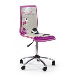 FUN-1 fotel młodzieżowy obrotowy różowy