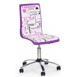 FUN-7 fotel młodzieżowy obrotowy fioletowy