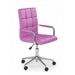 GONZO 2 - fotel młodzieżowy obrotowy różowy