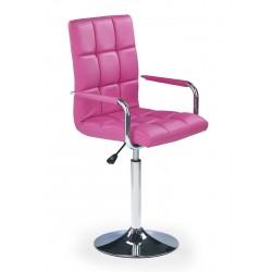 GONZO - fotel młodzieżowy obrotowy różowy