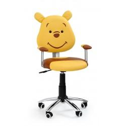 KUBUŚ - fotel młodzieżowy obrotowy brązowy