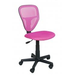 SPIKE fotel młodzieżowy obrotowy różowy