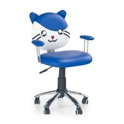 TOM - fotel młodzieżowy obrotowy niebieski