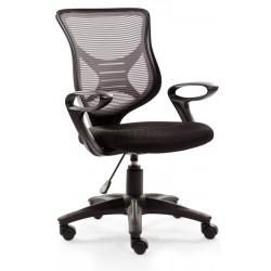 BONO - fotel pracowniczy obrotowy czarno-popielaty