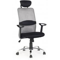 DANCAN - fotel pracowniczy obrotowy czarno-popielaty