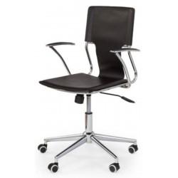 DERBY - fotel pracowniczy obrotowy czarny