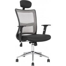 NEON - fotel pracowniczy obrotowy czarno-popielaty