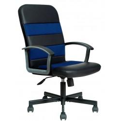 RIBIS - fotel pracowniczy obrotowy czarno-niebieski