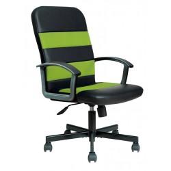 RIBIS - fotel pracowniczy obrotowy czarno-zielony
