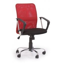 TONY - fotel pracowniczy obrotowy czerwony