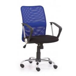 TONY - fotel pracowniczy obrotowy niebieski