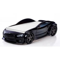 Evo Volt Black- 3D Łóżko dziecięce z materacem