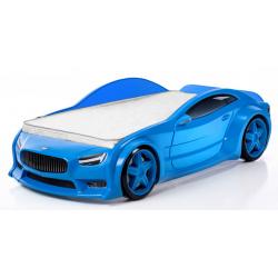 Evo Volt Blue - 3D Łóżko dziecięce z materacem