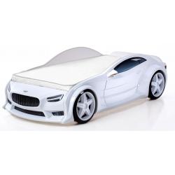 Evo Volt White  - 3D Łóżko dziecięce z materacem