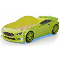 Evo Volt Green - 3D Łóżko dziecięce z materacem